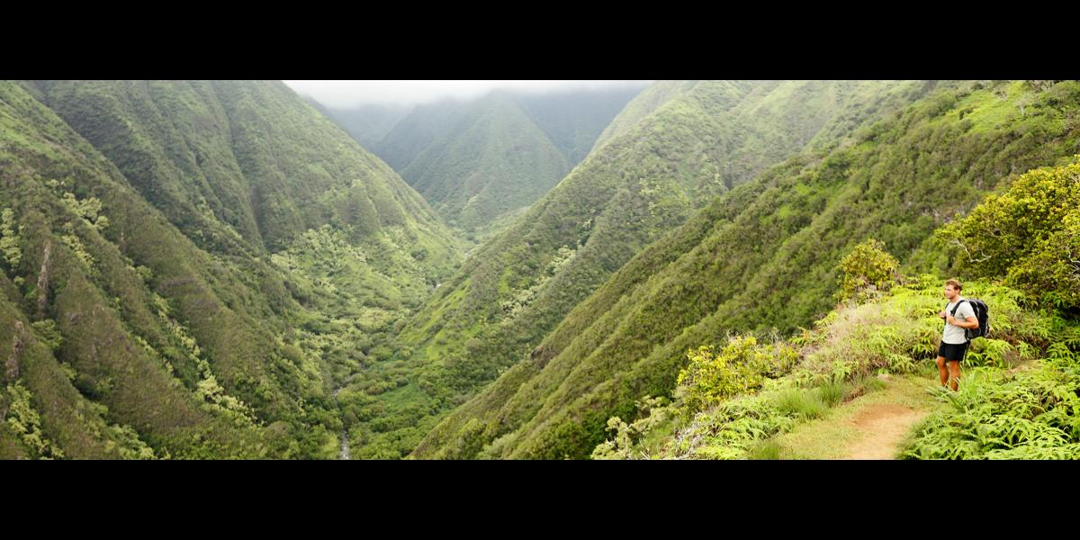 Hiking outside of Maui